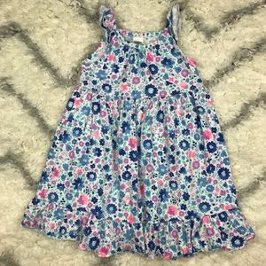 OshKosh B'gosh white and blue floral ruffle dress